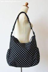 2Wayマザーズバッグ: おしゃれ かわいい:白黒ドット